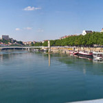 view of one of lyon's rivers