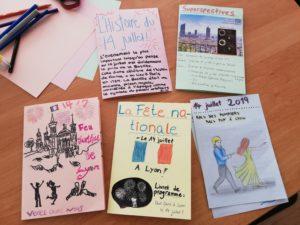 Travails d'un atelier créatif sur la fête nationale en France
