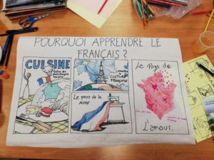 Poster about why to learn French