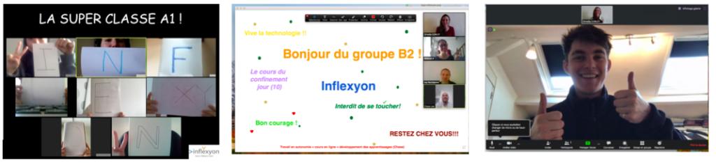Estudiantes internacionales asisten a clases virtuales de francés impartidas por Inflexyon
