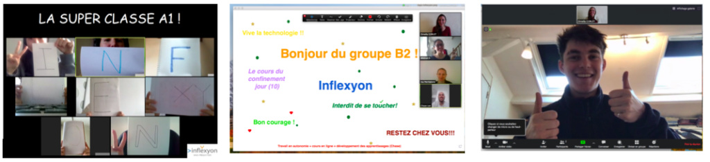 Les étudiants internationaux assistent aux cours virtuels de français dispensés par Inflexyon