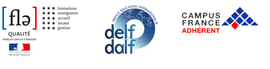 Logo label Qualité FLE, DELF et DALF, Campus France membre