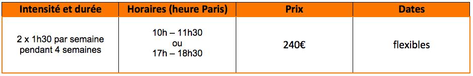 Offre de cours de français - préparation aux examens DELF et DALF à distance : 2 x 1h30 par semaine pendant 4 semaines, de 10h à 11h30 ou de 17h à 18h30, pour 240€, les dates flexibles