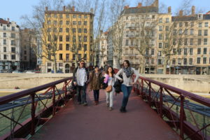 students in France cultural visit in Lyon